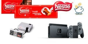 sorteo nestle de Nintendo Switch y Classic Mini