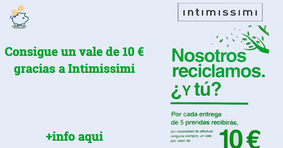 intimissimi regala 10 euros