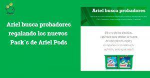 muestras gratis Ariel Pods 2019