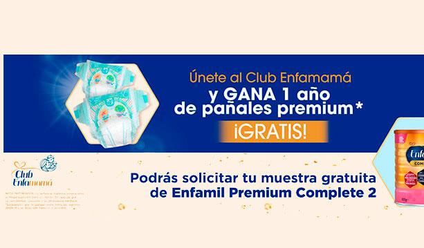 1 año pañales gratis Club Enfamamá