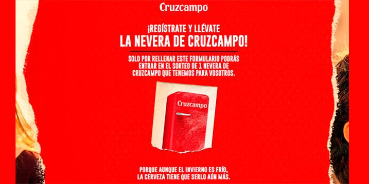 Sorteo nevera gratis Cruzcampo