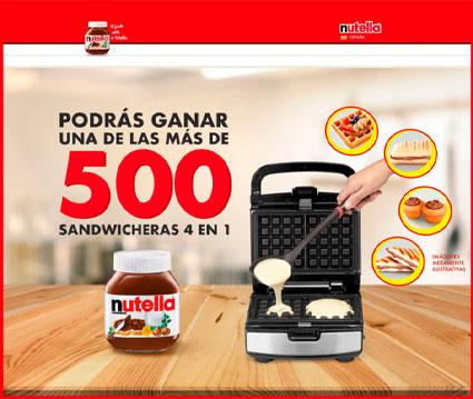 sorteo Nutella 510 sandwicheras