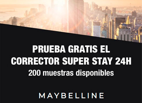 200 muestras gratis corrector maybelline