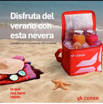 consigue una nevera portatil con cepsa