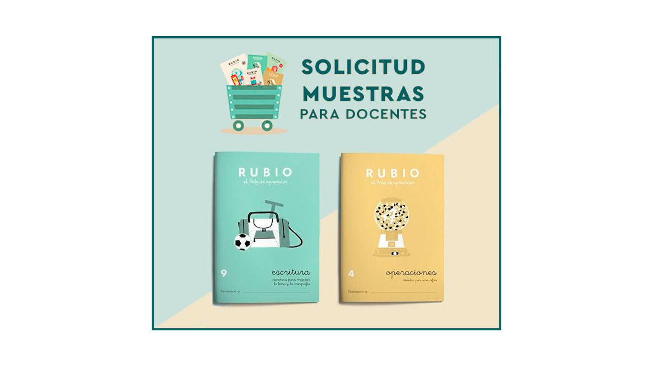 muestras gratis cuadernos rubio
