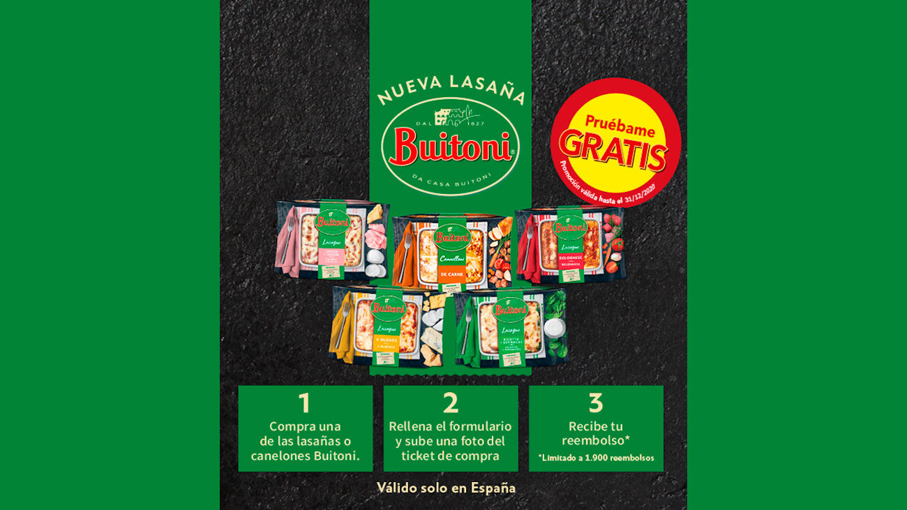 prueba gratis lasañas y canelones buitoni