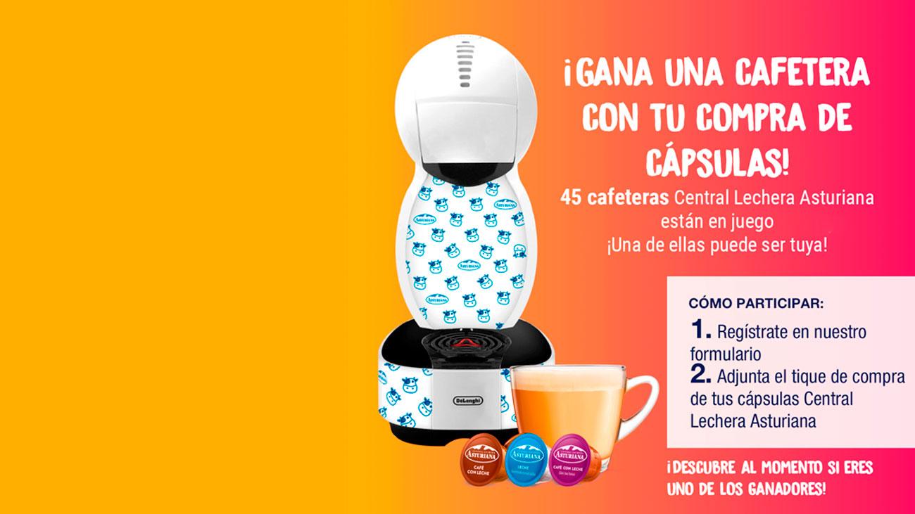 central lechera asturiana sortea cafeteras delonghi