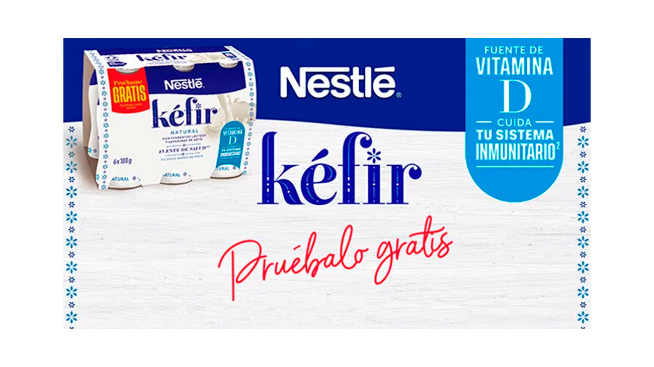prueba gratis kefir nestle