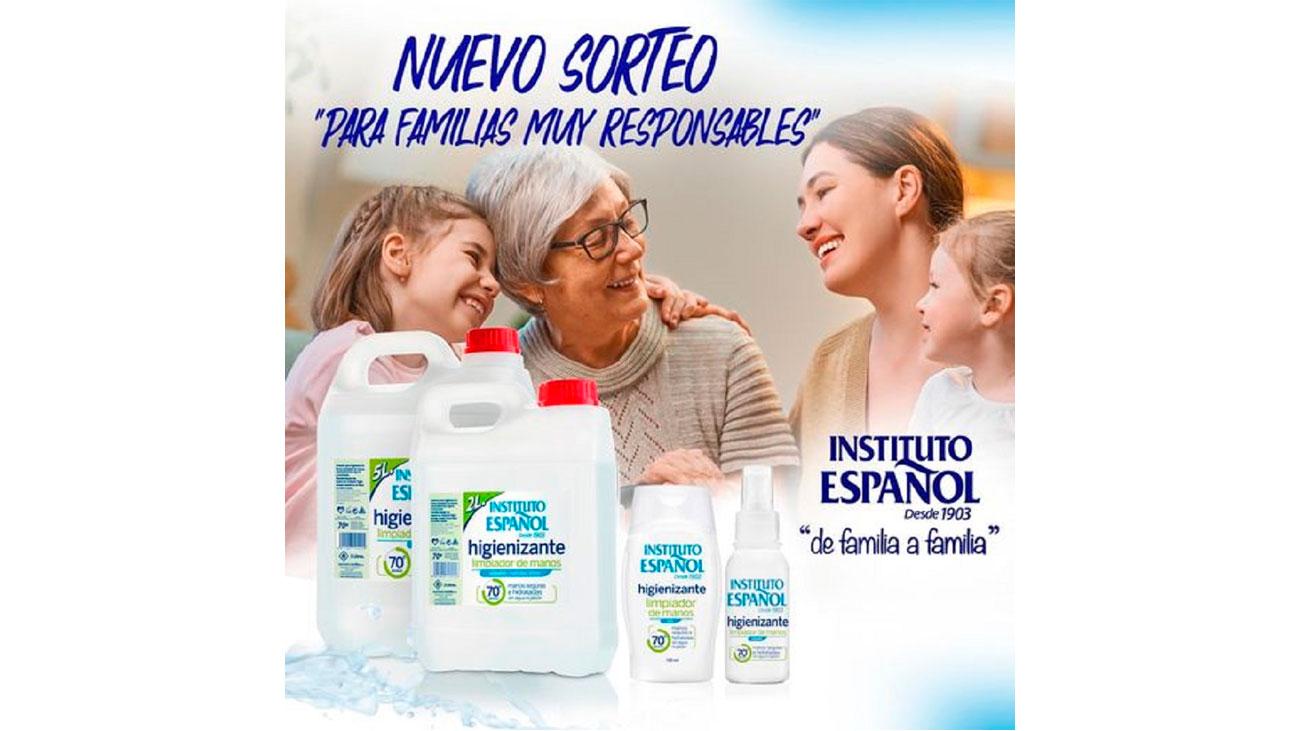 instituto español sorteo lote higienizantes
