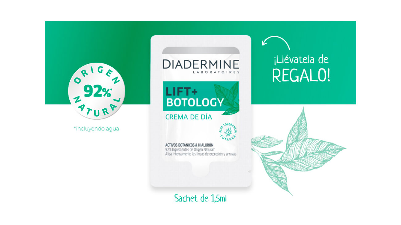 muestras gratis diadermine lift botology
