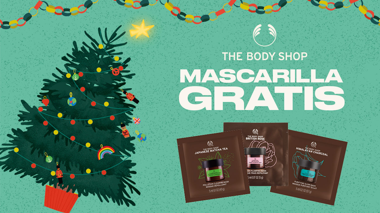 muestras gratis mascarillas facial the body shop