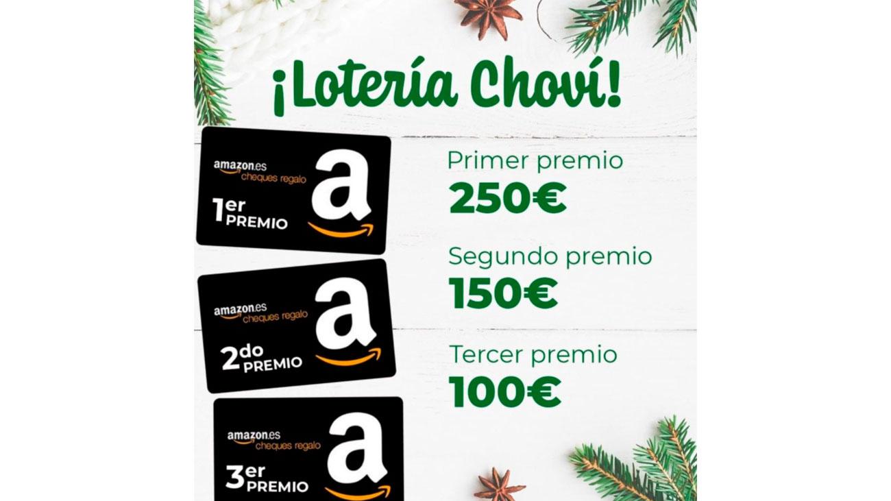 chovi sortea tarjetas amazon gratis