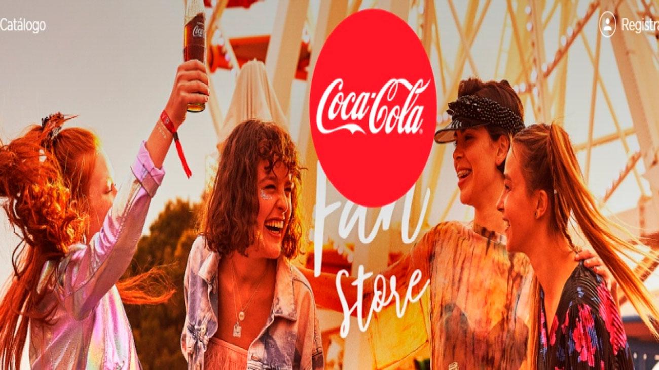 coca cola fan store regala experiencias y articulos gratis