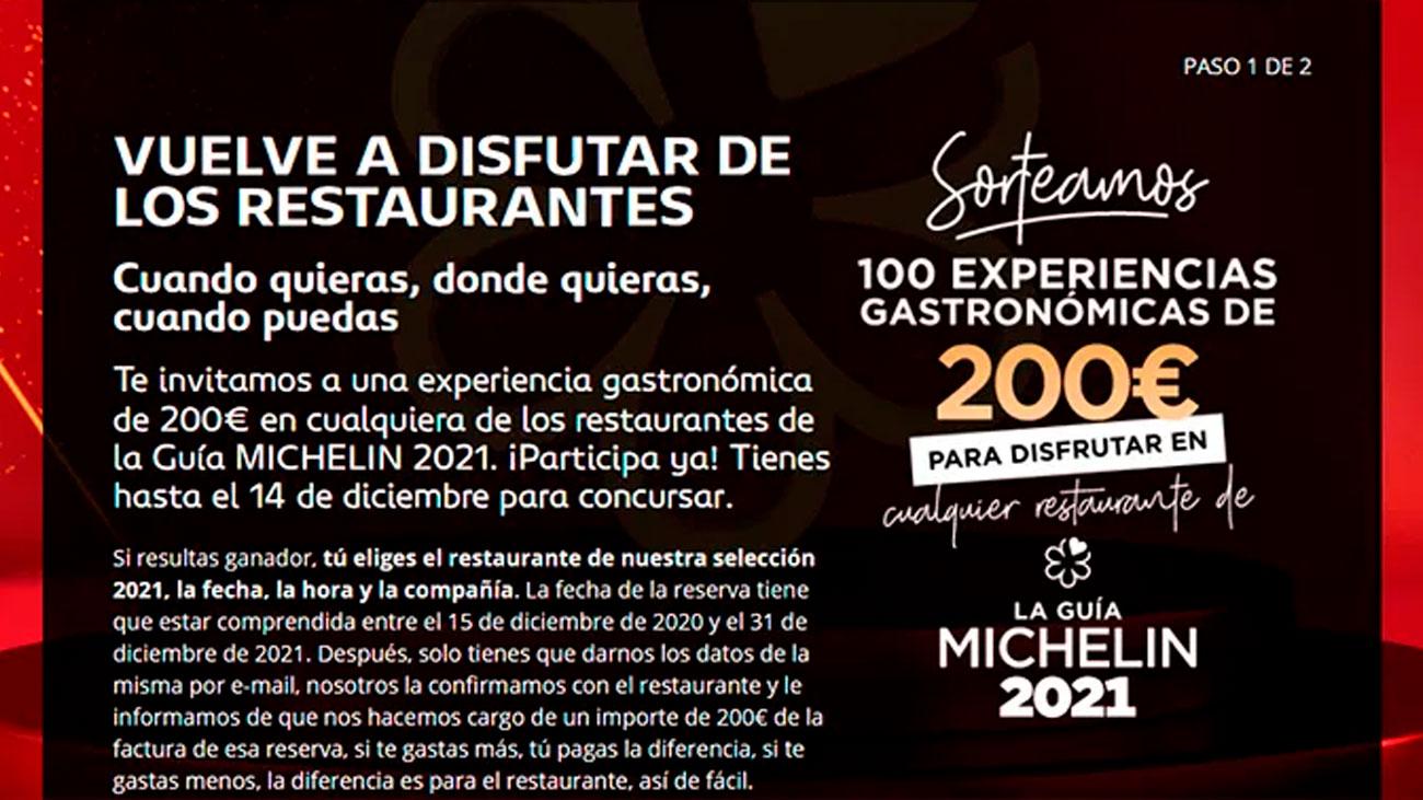 experiencias gastronomicas gratis guia michelin