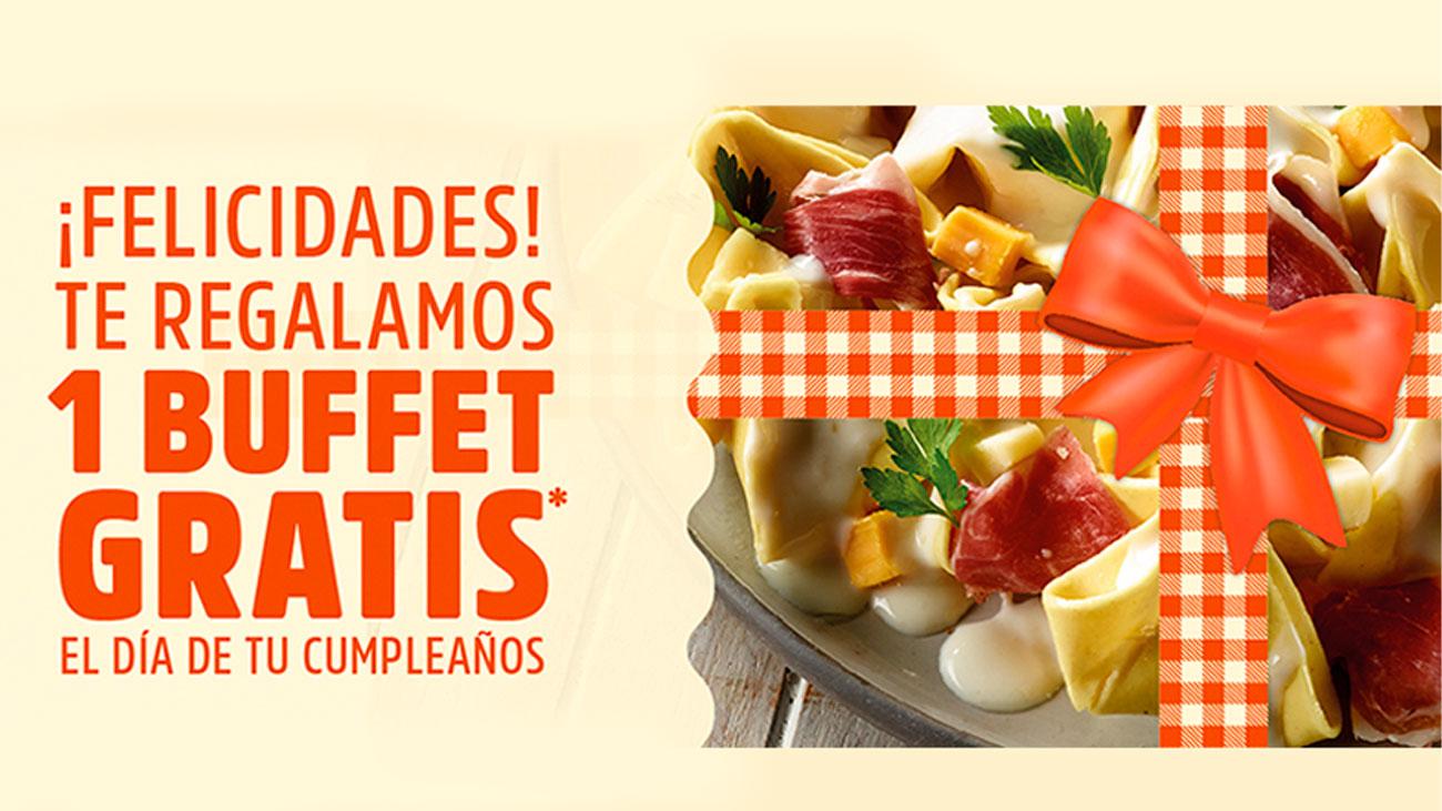 buffet gratis cumpleaños muerde la pasta