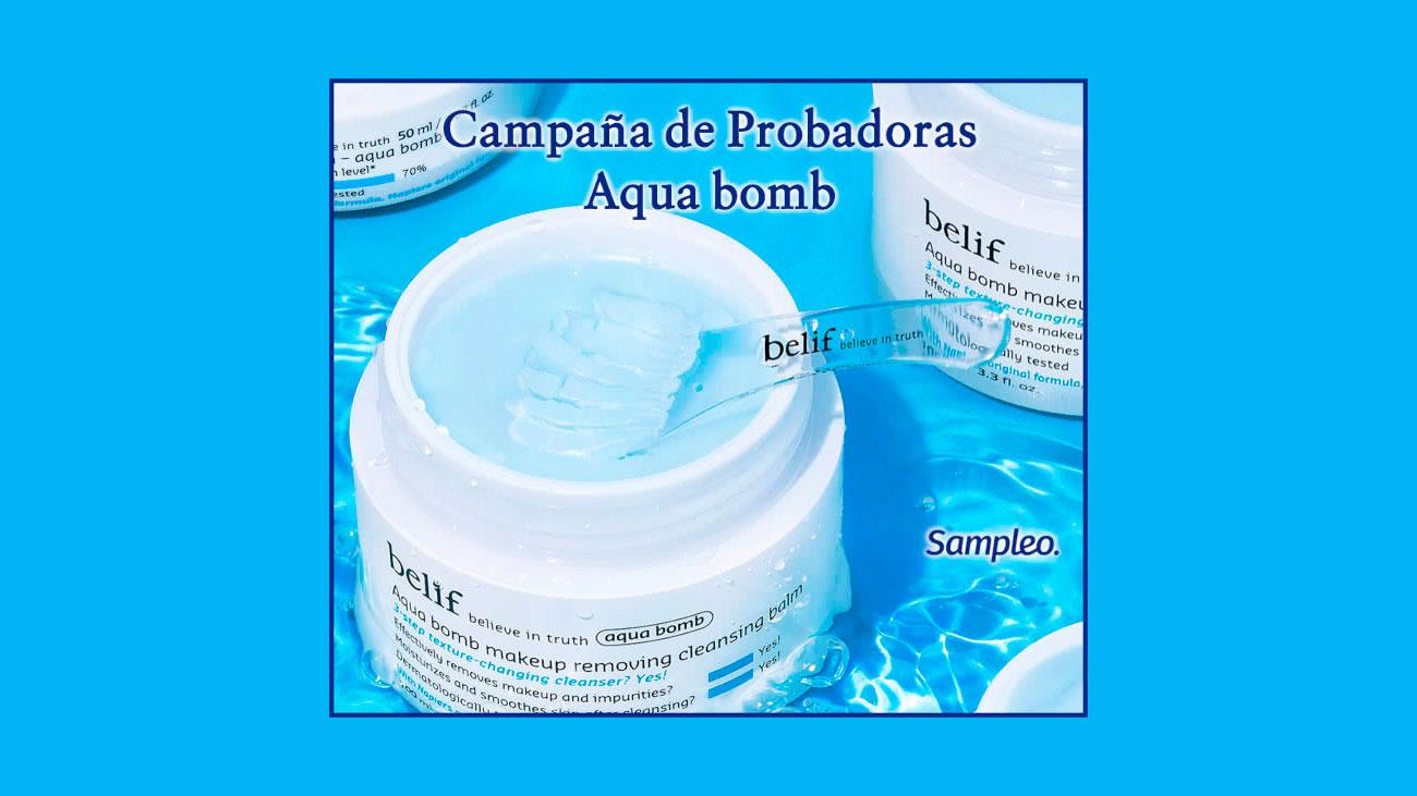 sampleo gratis aqua bomb belif