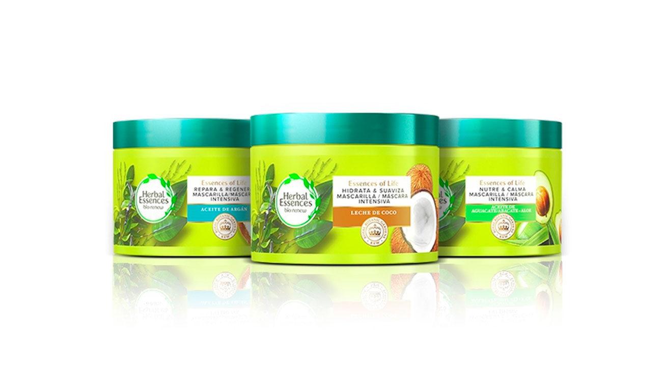mascarillas herbal essences green gratis