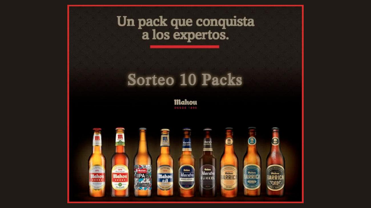 sorteo pack cervezas mahou gratis