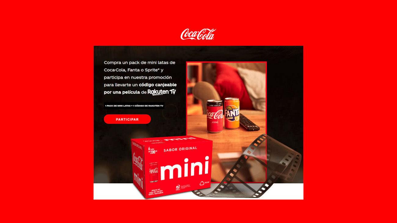 codigos rakuten tv con coca cola