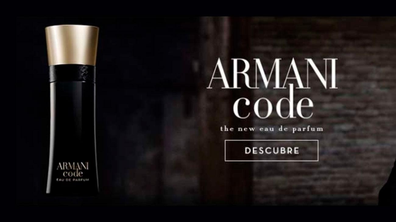 muestras domicilio armani code
