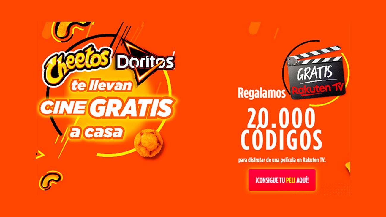 cheetos y doritos cine gratis