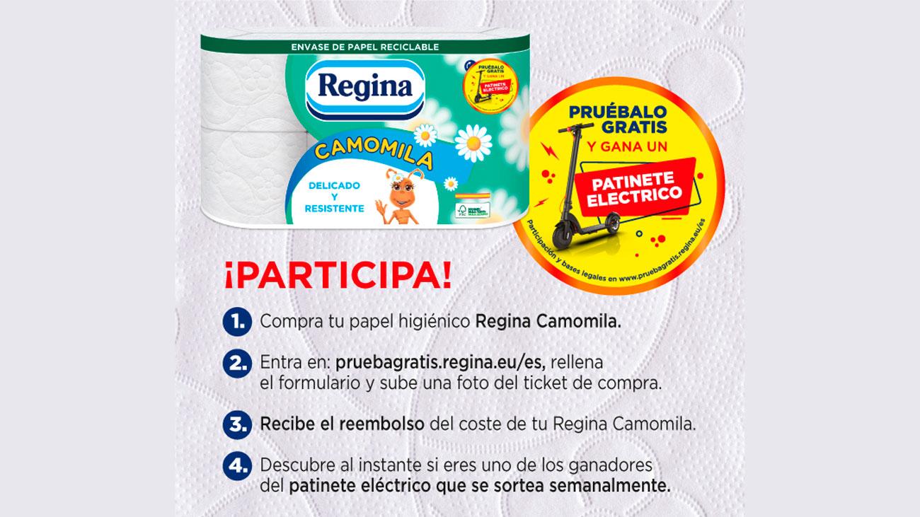 prueba gratis papel higienico regina