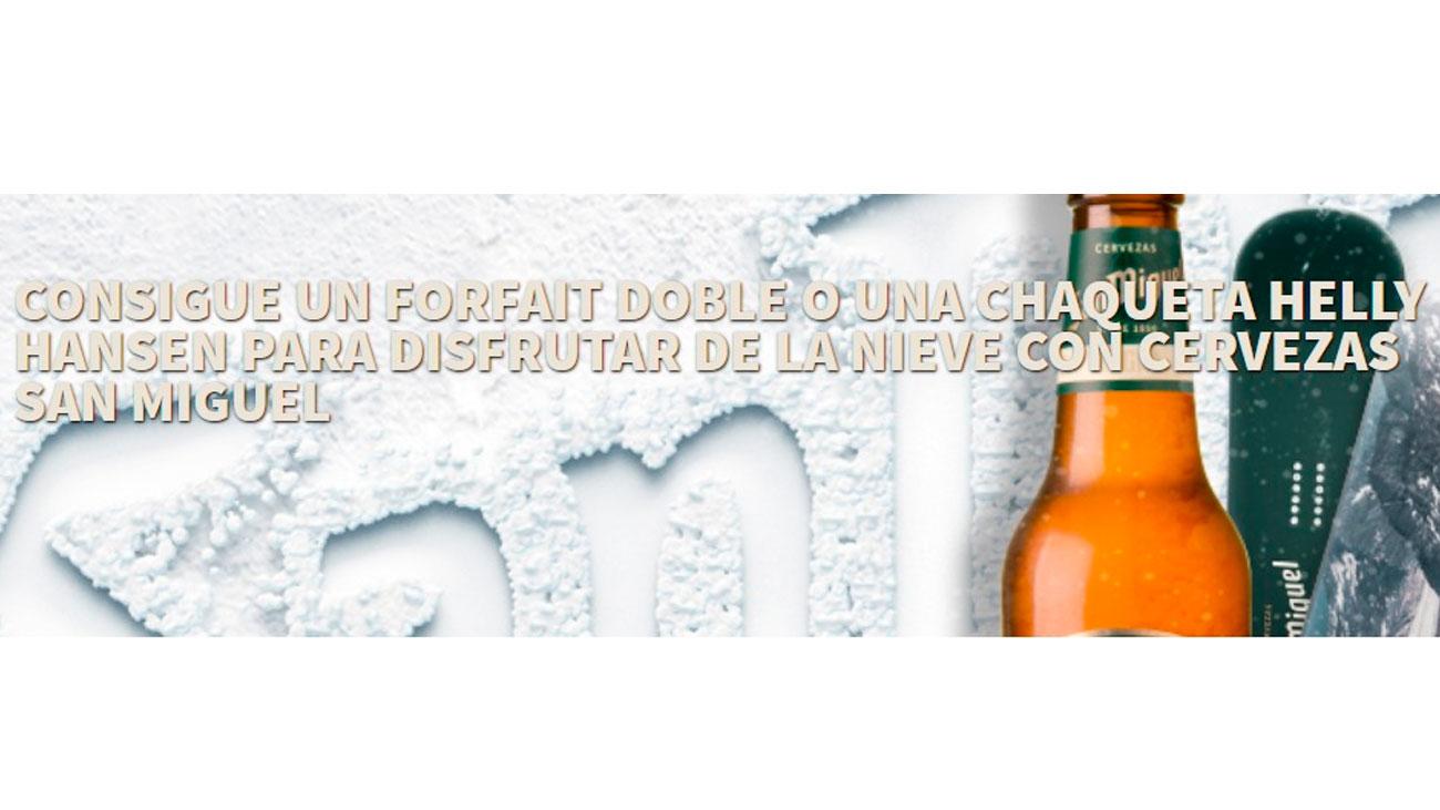 forfait y chaquetas gratis cervezas san miguel