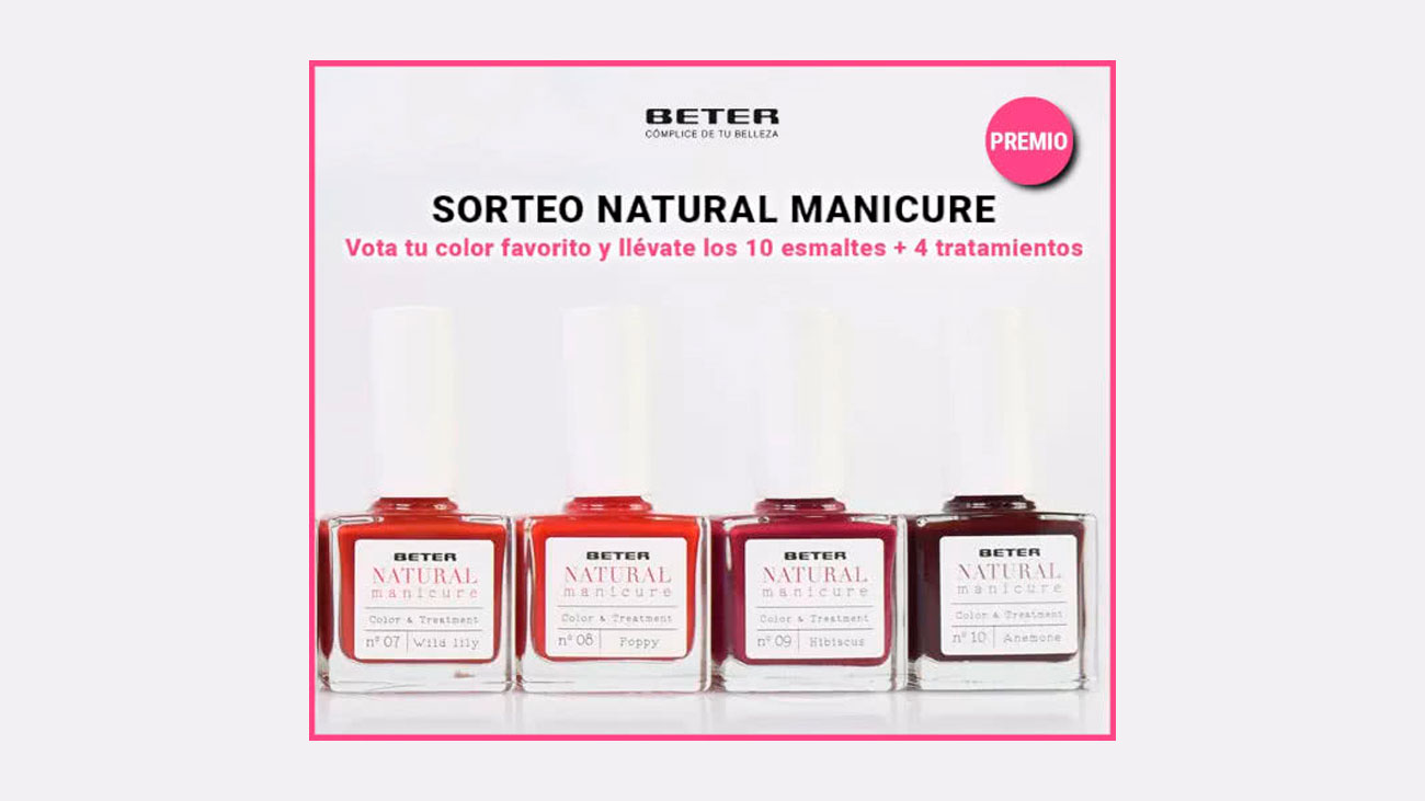 sorteo beter natural manicure