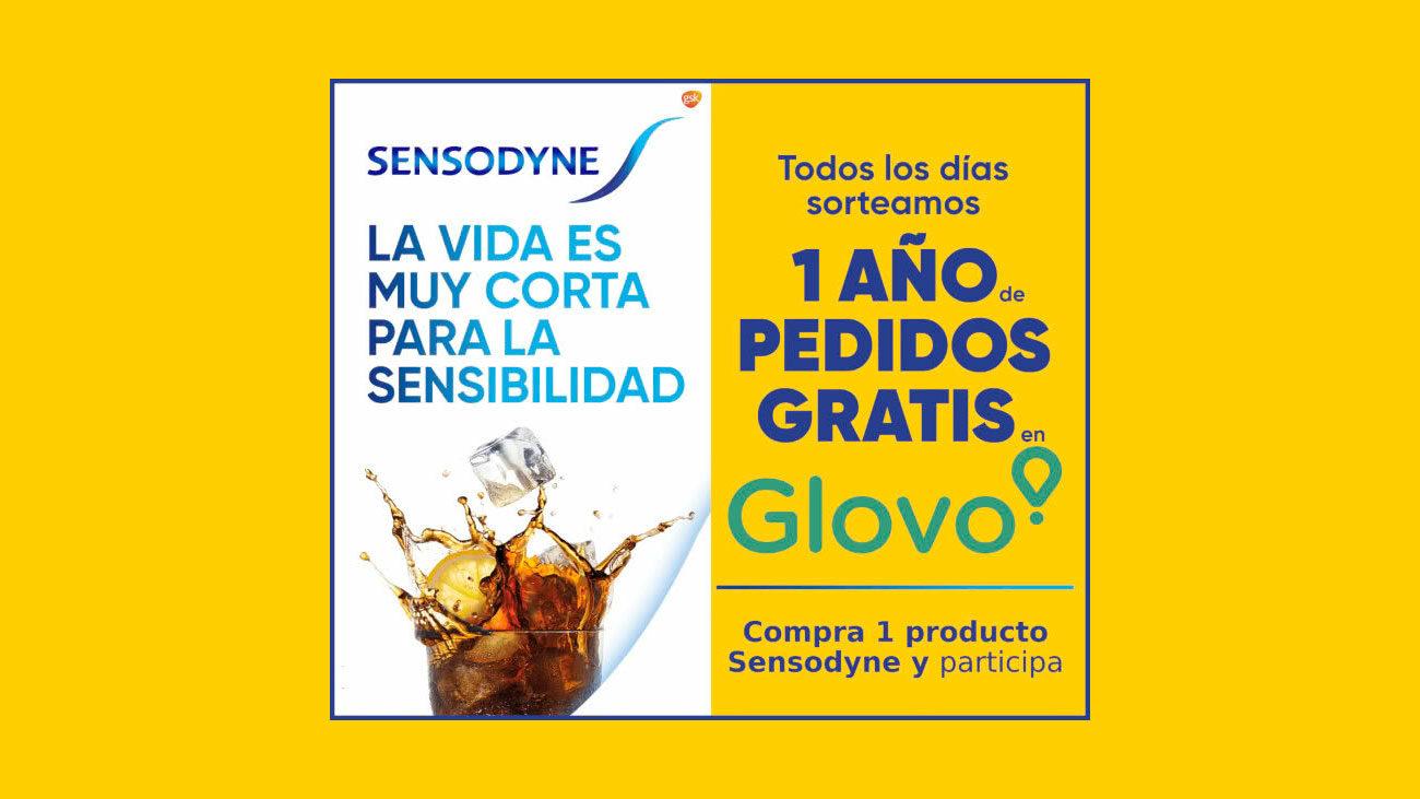 1 año pedidos glovo gratis sensodyne